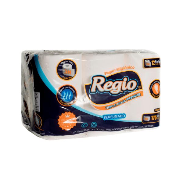 Papel higienico Regio 175 hojas x12 TH-min